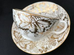 Zachariah Boyle gilt patterned tea cup and saucer
